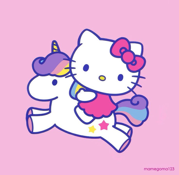 Hello Kitty with her unicorn <3 Cute! <3 KawaiiBox.com ❤ The Cutest Subscription Box