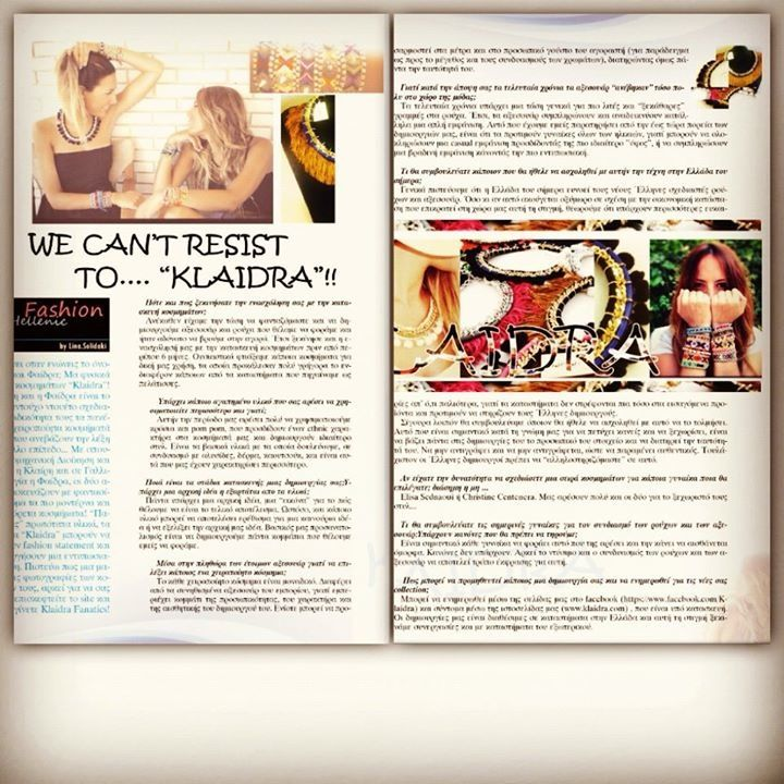Klaidra Interview | Alpha Greek Magazine #greekdesigners #klaidra #handmade #jewelry #interview