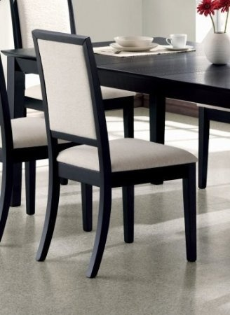 black dining room chairs set of 2 dining chairs creme chemile distressed black 29445