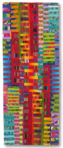 "Liz Kuny -    Scales  57½"" x 22½""  Cotton fabric. Machine pieced; machine quilted, 2009."