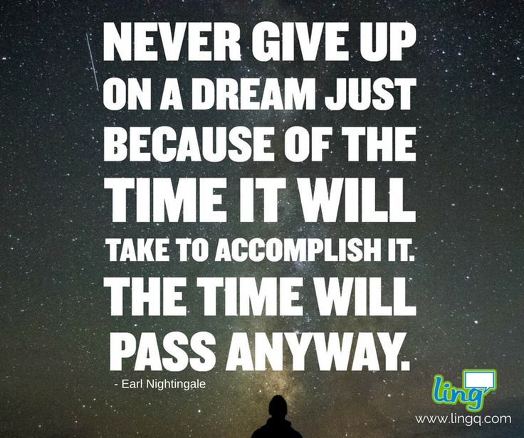 """Never give up on a dream..."" #goals #languagelearning #lingq #youcandoit"