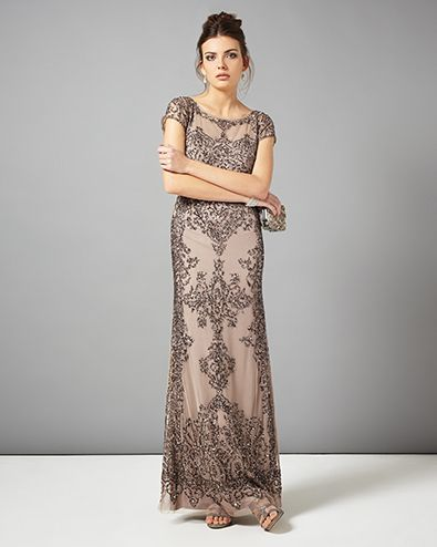 Zita Embellished Full Length Dress