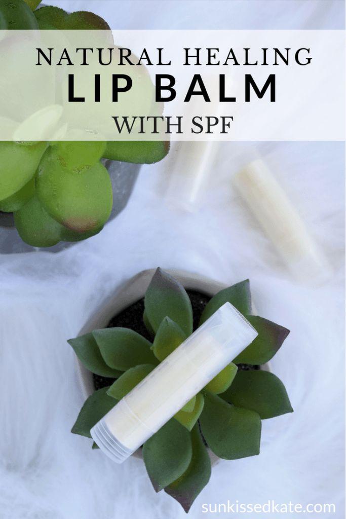 Homemade Natural Lip Balm | Non Toxic | Easy DIY | SPF Lip Balm | Healing | Essential Oils | Beeswax
