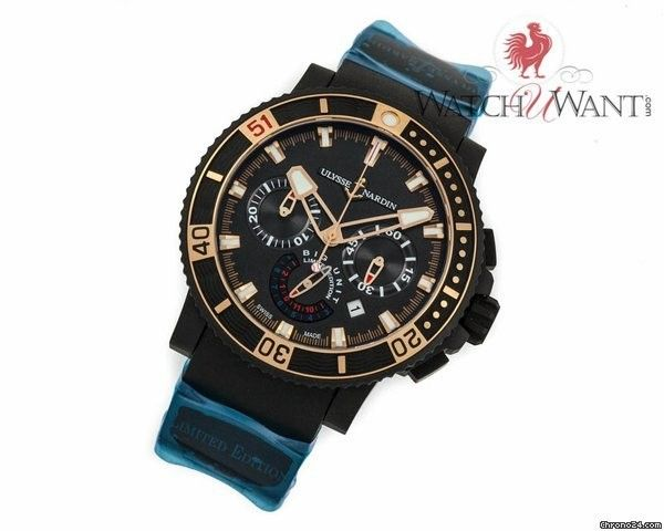 Ulysse Nardin Maxi Marine Diver 'Black Sea' Chronograph Randy Johnson 'Big Unit' Spe