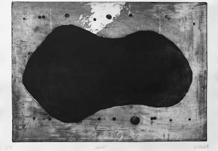 "Witold Winek ""object-A"", 53X78, aquatint, 2014"
