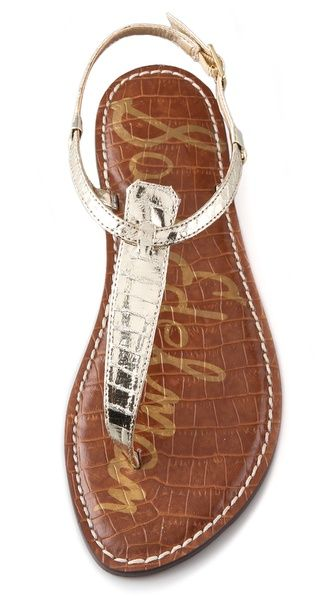 Sam Edelman Gigi T Strap Flat Sandals - I own many pairs of this sandal in many colors.   I love them!!!