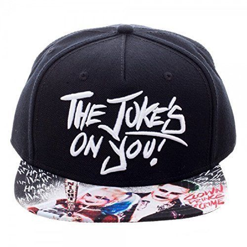 Suicide Squad Joker And Harley Quinn Jokes On You Sublimated Bill Snapback Hat #DCComics #BaseballCap