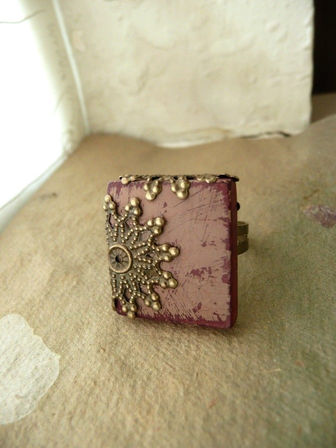 Country Chic Ring Filigree Adjustable Band Scrabble Tile  - Rococo by FlowerleafStudio on Etsy https://www.etsy.com/listing/56784200/country-chic-ring-filigree-adjustable