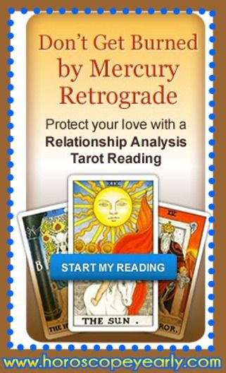 Don't Get Burned by Mercury in retrograde - A Love Celtic Cross Tarot reading is the perfect tool to bring you & that special someone closer than ever during this uber-romantic cosmic event. One of the most trusted Tarot spreads, this 11-card reading provides an in-depth look into your relationships, delivering powerful advice & predictions for your current or prospective romance. Get Details Here: http://www.horoscopeyearly.com/free-horoscope-compatibility-match/