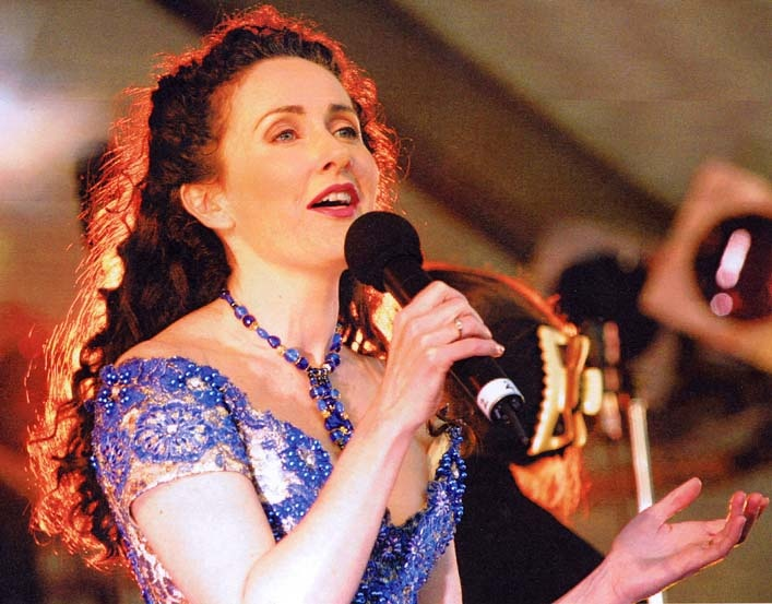 Marina Prior, one of Australia's most LOVED performers was the FIRST celebrity to EVER wear my jewels...here she is singing at the Geelong Carols By Candlelight xxx