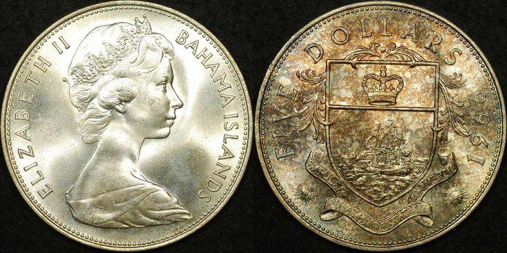 Bahama Islands 1966 $5 PCGS MS66 #coins #bahamas