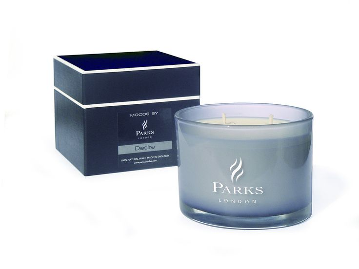 PARKS Moods Colour Therapy 3 Wick Candle 'BLACK'