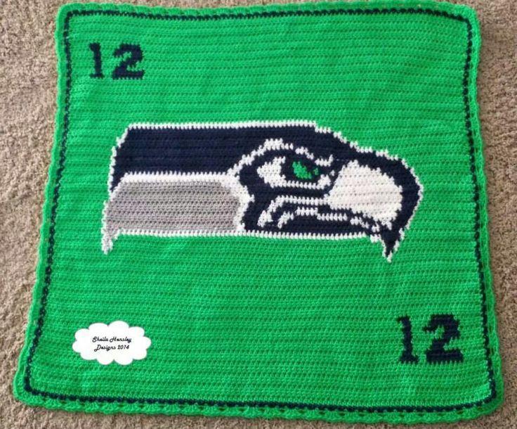 Seahawks Baby Blanket Baby Blanket Crochet Crochet Baby
