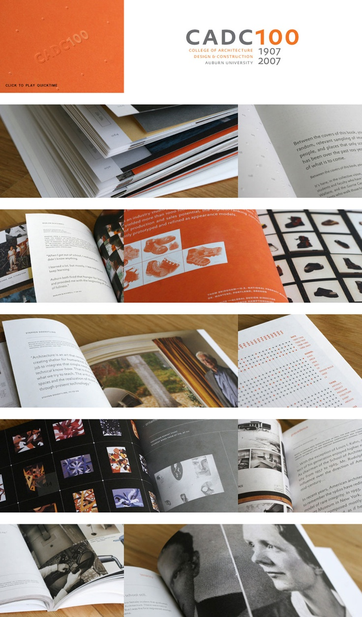 The Auburn College of Architecture, Design and Construction turned 100 and needed something to commemorate the milestone. A dream project for us, because it felt like going back to school. The result is a book that focuses on 100 interesting items, people, projects, ideas that make the school what it is, and that collectively tell the story of a small southern school's improbable rise to become one of the major forces in American architectural and design education.