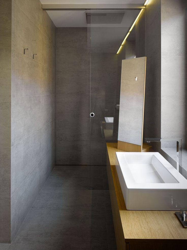 Extreme minimalist bathroom of concrete and wood [1000x1333] - Imgur