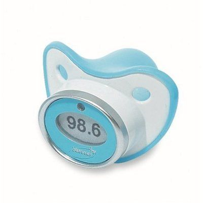 Pacifier thermometer ~~Awesome Invention http://tmiky.com/pinterest