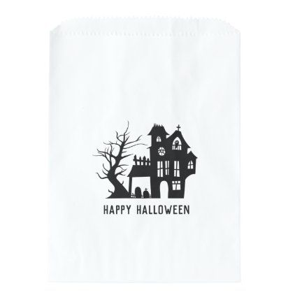 Happy Halloween 2020 Kids Going Up To House Spooky haunted house. Happy Halloween. Kids treats Favor Bag in