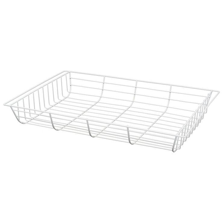 Form Twinslot White Storage Basket (W)38.2cm (L)58.6 cm | Departments | DIY at B&Q