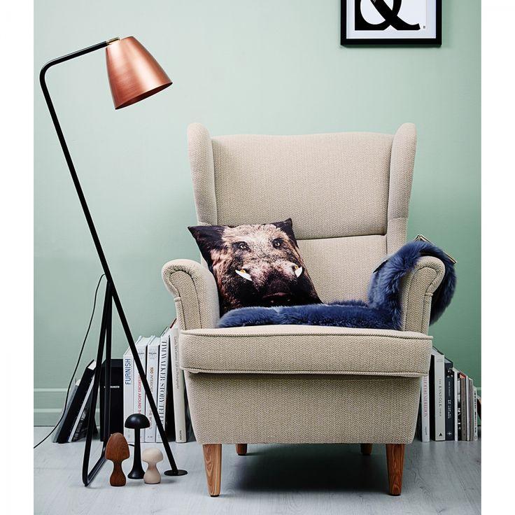 stehleuchte tessa metall schwarz kupfer 1 flammig kyburg living room pinterest. Black Bedroom Furniture Sets. Home Design Ideas