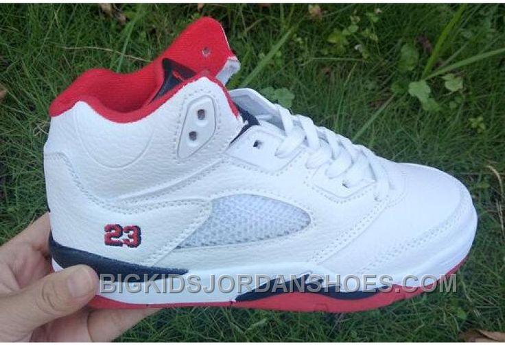 "http://www.bigkidsjordanshoes.com/discount-kids-air-jordan-5-fire-red-basketball-shoes.html DISCOUNT KIDS AIR JORDAN 5 ""FIRE RED"" BASKETBALL SHOES Only $85.00 , Free Shipping!"