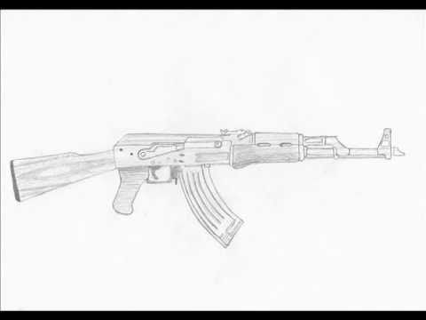 How to draw an Ak-47