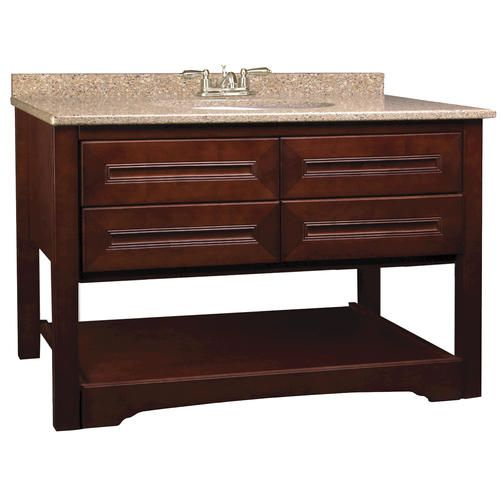 Park avenue series 48 w x 18 d vanity at menards - Menards bathroom vanities 48 inches ...