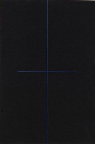 blue on black - 1968 - ralph hotere