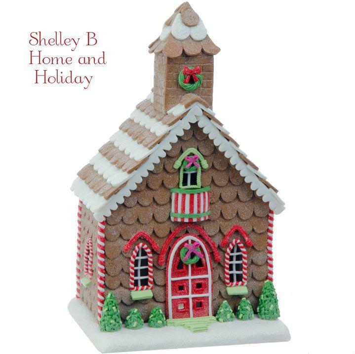 Gingerbread Church Christmas Decoration   Shelley B