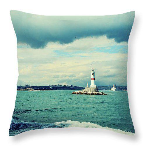 Lighthouse Near Istanbul By Svetlana Yelkovan Throw Pillow #SvetlanaYelkovanFineArtPhotography #pillow  #ArtForHome #FineArtPrints #fruits #sea
