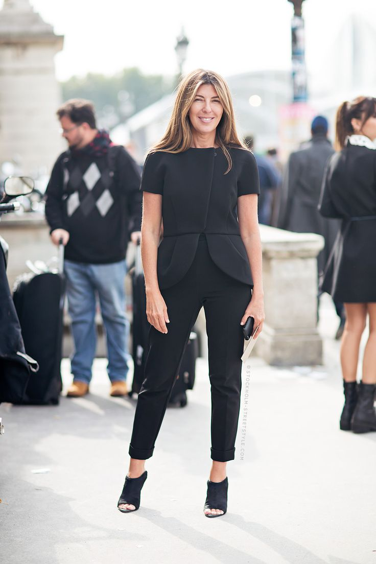 black structured outfit