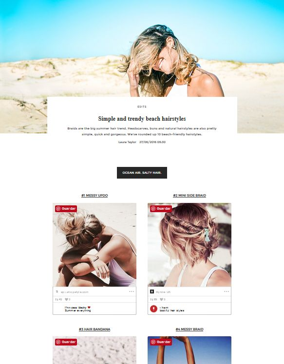 Simple and trendy beach hairstyles | UNIKSTORE Blog