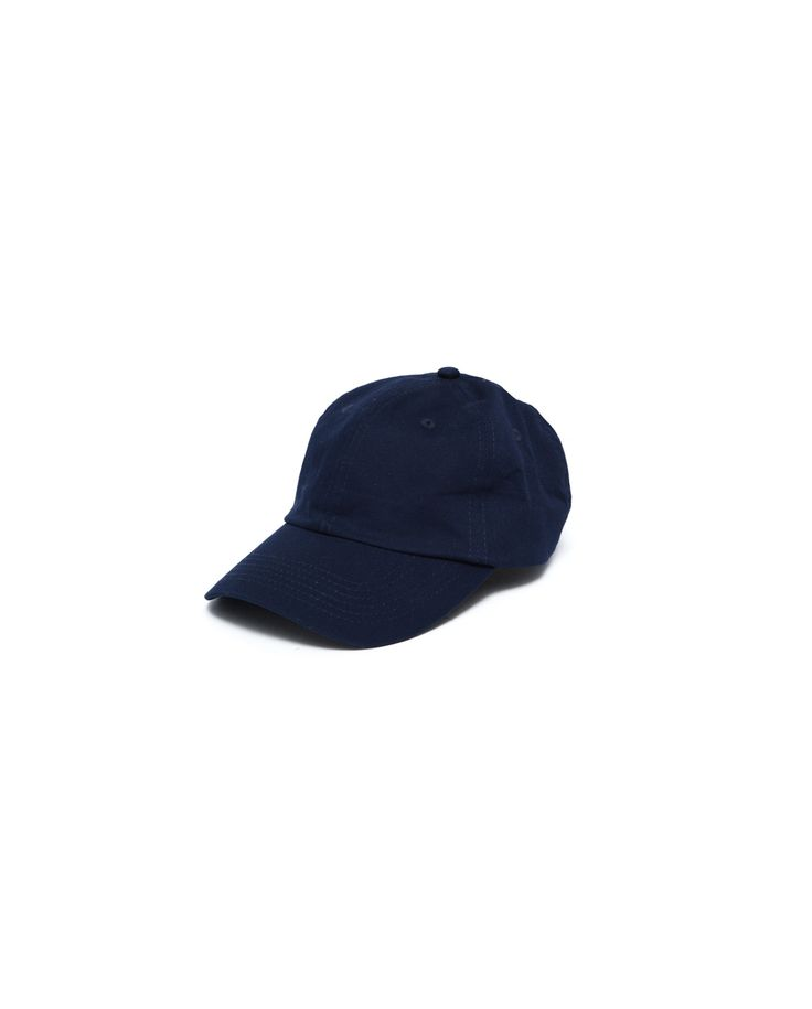 Atelier New Regime cotton dad hat in navy. Features signature logo embroidery on right panel and adjustable strap fastening. #ateliernewregime #newregime #FW16