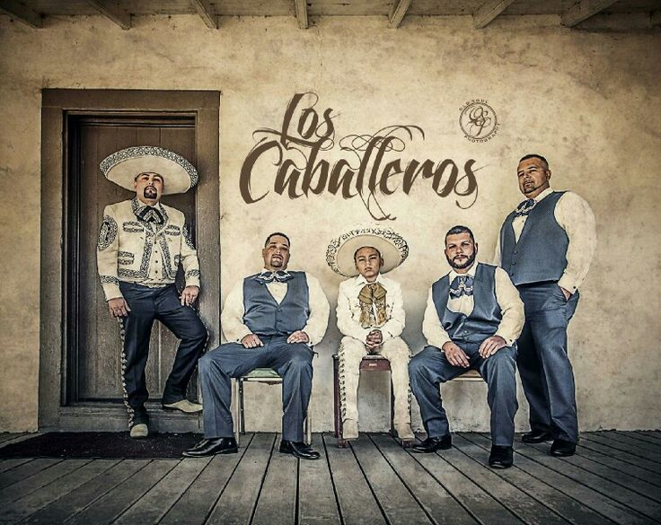 Espinoza Cerda, Charro wedding, groom and groomsmen. Traditional hacienda style wedding theme at the Olivas Adobe in Ventura CA