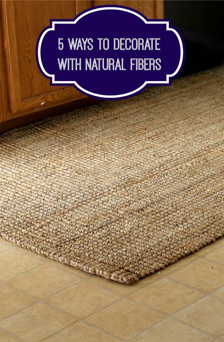 5 Ways To Decorate With Natural Fibers  http://makobiscribe.com/decorating-with-natural-fibers/ on Pinterest below:
