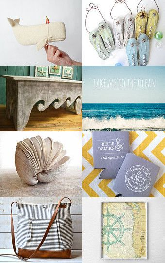A Day at the Beach by Julie Bluet on Etsy--Pinned with TreasuryPin.com