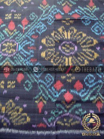 Bahan Baju Tenun Ikat Motif Etnik Hitam Biru | Indonesian Ikat Fabric Pattern Design http://thebatik.co.id/kain-batik-bahan/