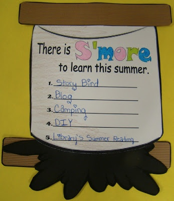 Smore to Learn. Cute craftivity to have students make a list of activities to extend learning into summer.