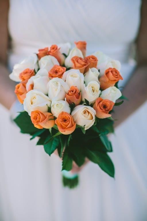 Wedding Bouquet with Roses for a wedding in Mykonos | Exclusive Greek Island Weddings by Stella & Moscha | Bespoke Wedding Design | Photo by George Pahountis