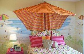 Fun girls rooms: Beaches Umbrellas, Beaches Rooms, Beaches House, Girls Bedrooms, Bedrooms Idea, Beaches Bedrooms, Girls Rooms, Girl Rooms, Kids Rooms