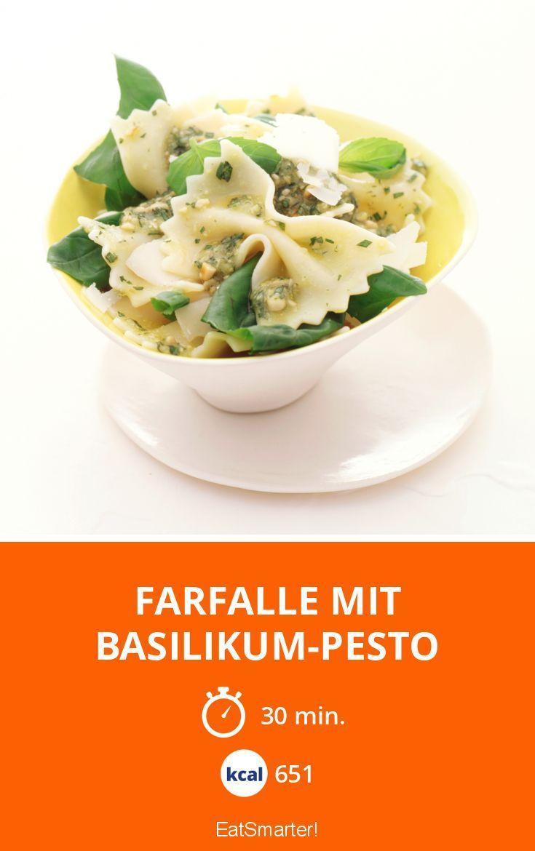 Farfalle mit Basilikum-Pesto - smarter - Kalorien: 651 Kcal - Zeit: 30 Min. | eatsmarter.de