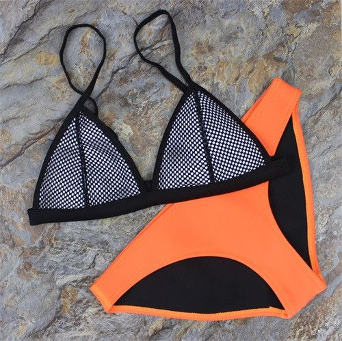Retro Style Brazilian Printing Swimsuit Bikinis Halter Padded - Stylish n Trendier - 1