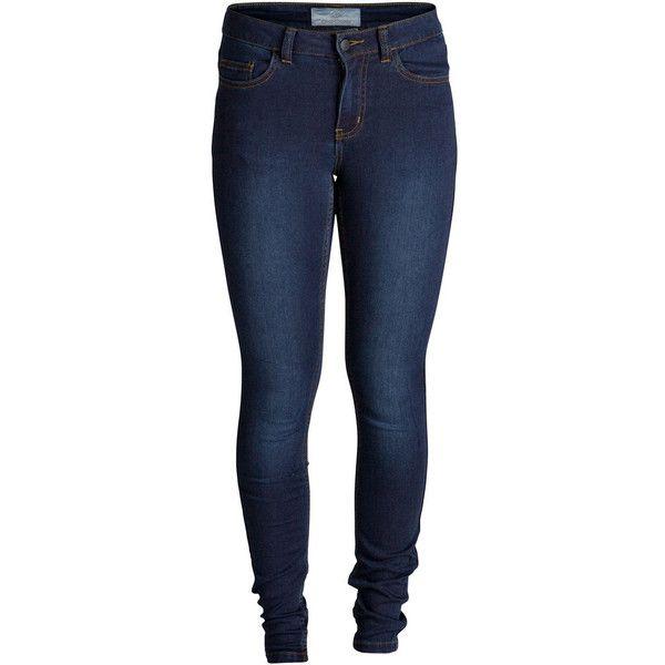 PIECES Super Soft Regular Waist Leggings ($52) ❤ liked on Polyvore featuring pants, leggings, jeans, bottoms, spodnie, dark blue denim, blue denim pants, blue leggings, blue trousers and 5 pocket pants