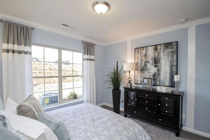 Transitional Guest Bedroom with Pella Architect Series 850 Single-Hung Window with Traditional Grille Pattern, Carpet