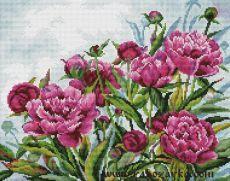 """Вышивка """"Розовые пионы"""" крестиком. Схема вышивки цветов Вышивка """"Розовые пионы"""" крестиком. Схема вышивки цветов"""