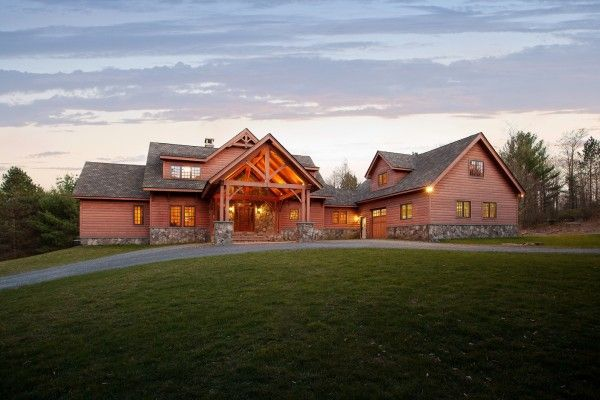 Custom timber frame home in upstate NY