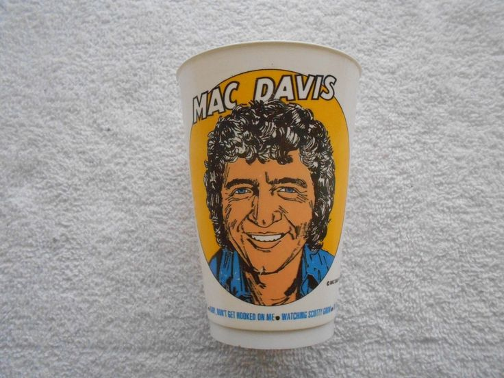 Mac Davis 7 Eleven 7-11 Plastic Cup Music Artist Vintage-1976