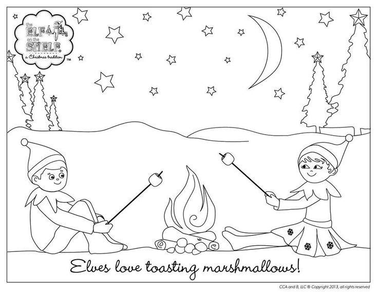 Elf On The Shelf Ideas Hot Air Balloon Coloring Pages