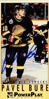 Pavel Bure Vancouver Canucks Signed 1993-1994 Power Play Card # 248 Rare SL COA . $20.00. Vancouver Canucks LWPavel BureHand Signed 1993-1994 FleerPower Play Card# 248.GREAT AUTHENTIC HOCKEY COLLECTIBLE!!AUTOGRAPH AUTHENTICATED BY SPORTS LOT AUTHENTICATIONS WITH A SPORTS LOT NUMBERED AUTHENTIC STICKER ON ITEM.SL SOA # 13237ITEM PICTURED IS ACTUAL ITEM BUYER WILL RECEIVE.