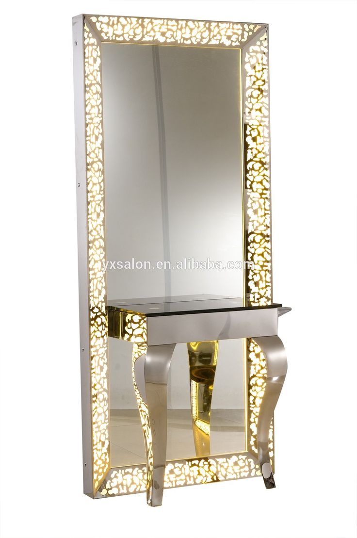2017 Classic French Style Stainless Steel Mirror Station With LED Lights(H102)
