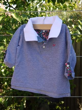 SALE - $19.98 - Girls Rugby Top (Peace, Love & Mung Beans!) 75% cotton, 25% polyester UPF 30.  Our Rugby Top has a high polo neck and long sleeves for greater sun protection. This top is baggy and super comfy and the sleeves can be shortened which makes this top wearable all year round.   It is 100% Australian made and designed with sun protection in mind. www.shadydays.com.au